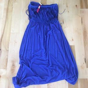 Cobalt blue coverup/dress