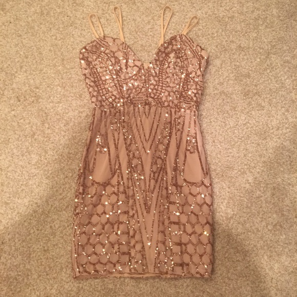 Windsor Dresses Rose Gold Formal Sequin Dress Poshmark