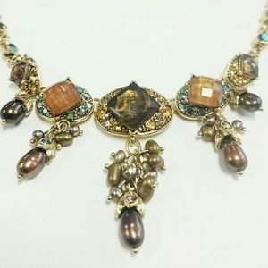 Jewelry - Bronze Tones Chocolate Freshwater Pearl Necklace