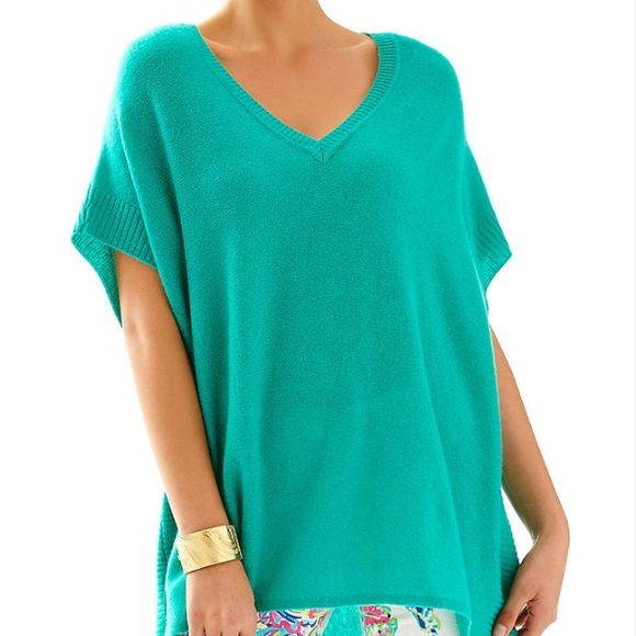 Lilly Pulitzer Sweaters - Lilly Pulitzer Green Chloe Cashmere Pullover