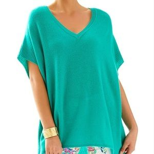 Lilly Pulitzer Green Chloe Cashmere Pullover