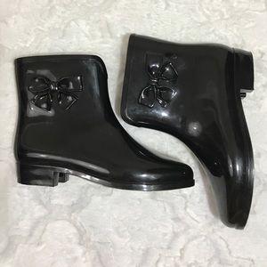 Melissa Shoes - Mel by Melissa rain boots black bow 6