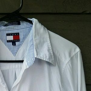 Tommy Hilfiger Tops - Vintage Tommy Hilfiger White Button-down Top
