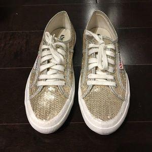 Superga Shoes - Women's Superga Gold Sequence Sneakers, US 8/EU 39