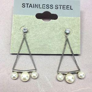 Jewelry - Stainless Steel Dangle Earring