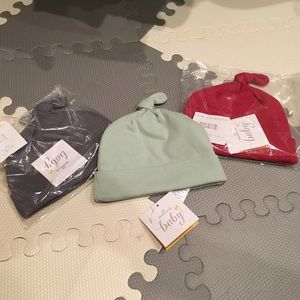 Hallmark Baby Other - Knot Hats Beanies Baby Set of 3 Mint Red Gray NWT