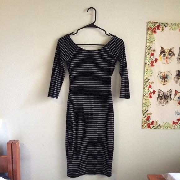 Zara Dresses & Skirts - Black and White Stripped Dress