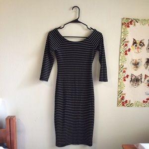 Zara Dresses - Black and White Stripped Dress