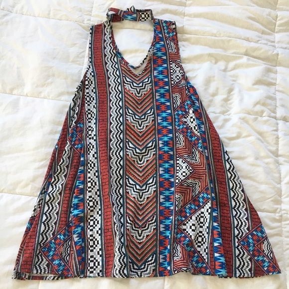 MINKPINK Dresses - MinkPink Multi Color Tribal Dress With Choker