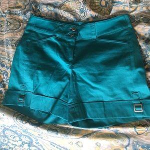 White House black market teal shorts 00