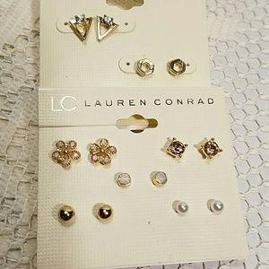 7 Pairs LC Lauren Conrad Stud Earrings