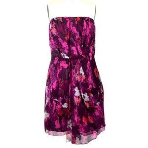 Tibi Dresses & Skirts - Tibi NY Strapless Floral Silk Dress 9