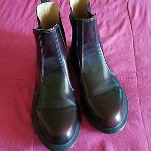 Authentic Dr. Martens Men's dark wine color boots