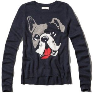 SALE❗️Abercrombie & Fitch Navy Frenchie Sweater
