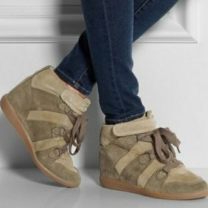 Isabel Marant bluebel wedge sneaker size 38/7