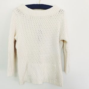 Talbots Sweaters - Talbots White Knitted Sweater 3/4 Sleeves