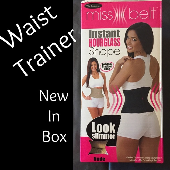 Miss Belt Waist Trainer Cincher Hourglass Shape Belly Shaper Black or Nude NEW