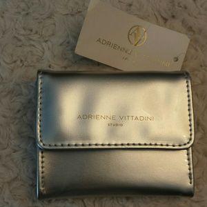 Adrienne Vittadini  Handbags - Adrienne Vittadini NWT Silver Patent Coin Purse