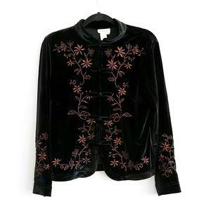 Coldwater Creek black velvet jacket/shirt