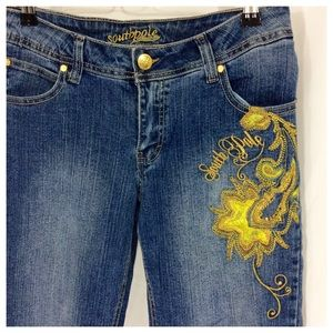 South Pole Denim - Southpole Gold Embroidered Jeans