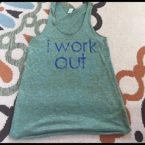 Alternative Tops - Green work out tank-soft!