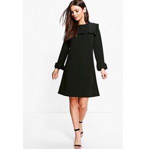 Boohoo Dresses & Skirts - Boohoo.com Rosie ruffle dress in black