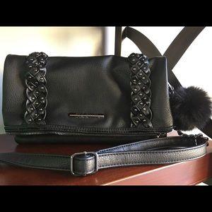 Steve Madden Handbags - New With Tags STEVE MADDEN black fold Crossbody