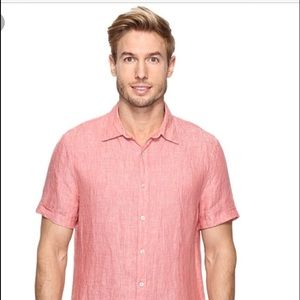 Perry Ellis Other - Perry Ellis linen short sleeve shirt