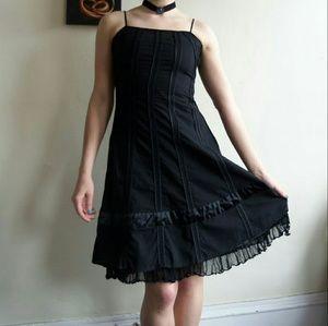 Ariella Dresses & Skirts - Ariella Gothic Lolita Black Lace Up Corset Dress