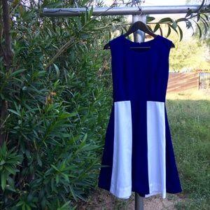 Vintage navy white sailor dress