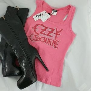 Dolce & Gabbana Tops - NWT D & G beaded Ozzy Ozbourne tank top L