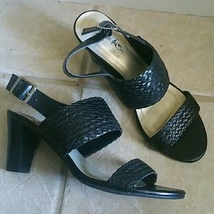 coach and four Shoes - Black Coach and Four sandals (Not Coach Shoes)