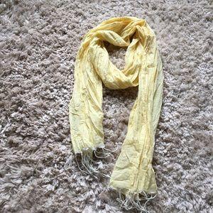Gap yellow and white stripe lightweight scarf