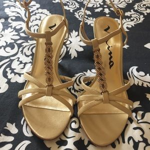 Brand New Nina Gold shoes