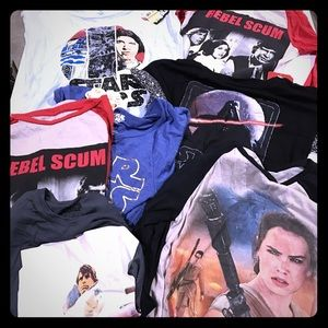 Star Wars Tops - NWT: 9 Star Wars shirts wholesale price.