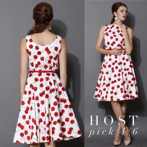 Final Price Cherry Print NWT Midi Dress
