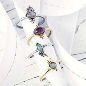 Free People meaningful stone ring set