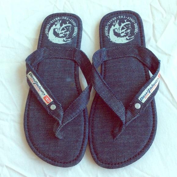 Diesel Shoes | Jeans Flip Flops Size 6 | Poshmark