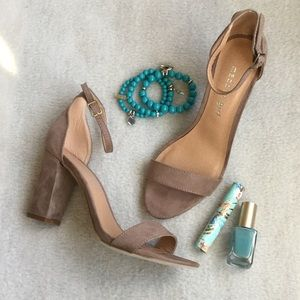 Madden Girl Shoes - Taupe ankle strap sandals
