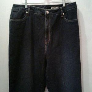 AMI Stretch Dark Denim Capri Jeans Womens Plus 18W