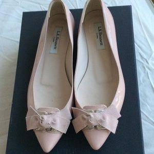 LK Bennett Shoes - L.K.Bennet patent leather nude flats size 6