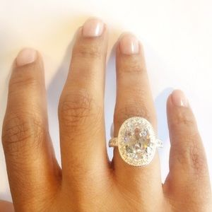 Jewelry - 🆕925 Stamped Sterling Ring Cubic Zirconia Stone