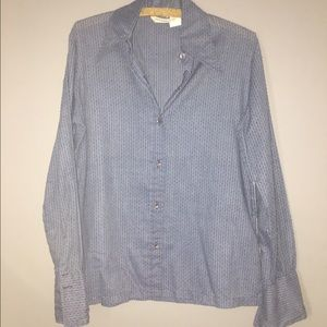 Tops - Lightweight Chambray Color Button Down Sz 14