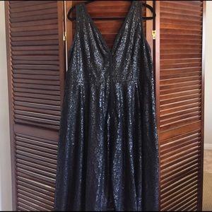 Plus size Black sequin dress