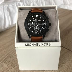 Michael Kors Other - ⌚️Brown leather Michael Kors watch ⌚️