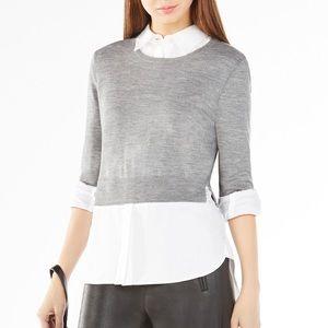 BCBGMaxAzria Sweaters - BCBG • Grey Crop Sweater