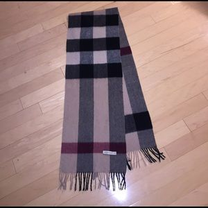 Burberry Other - 100% cashmere and authentic Burberry scarf