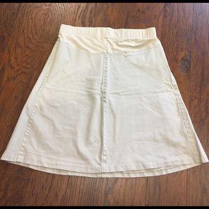 Professional motherhood maternity tan skirt size L