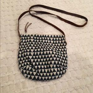 Crossbody small triangle canvas purse