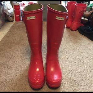 Hunter Boots Shoes - Hunter Red Gloss Boots
